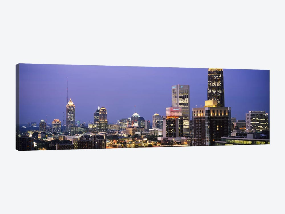 Buildings in a city, Atlanta, Georgia, USA #2 by Panoramic Images 1-piece Canvas Art Print