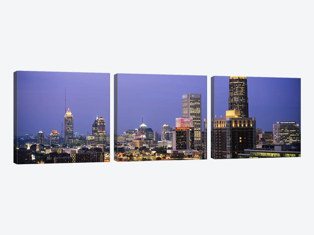 Buildings in a city, Atlanta, Georgia, USA #2 by Panoramic Images 3-piece Canvas Art Print
