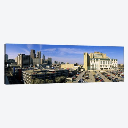 Hospital in a city, Grady Memorial Hospital, Skyline, Atlanta, Georgia, USA Canvas Print #PIM6272} by Panoramic Images Canvas Art Print