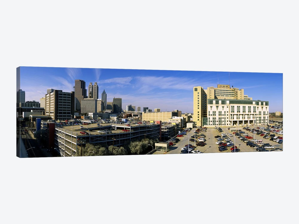Hospital in a city, Grady Memorial Hospital, Skyline, Atlanta, Georgia, USA by Panoramic Images 1-piece Canvas Art