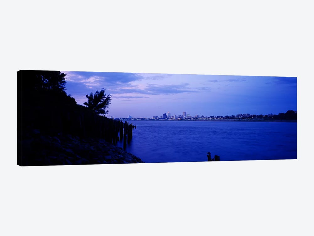 City at the waterfront, Mississippi River, Memphis, Shelby County, Tennessee, USA by Panoramic Images 1-piece Canvas Artwork