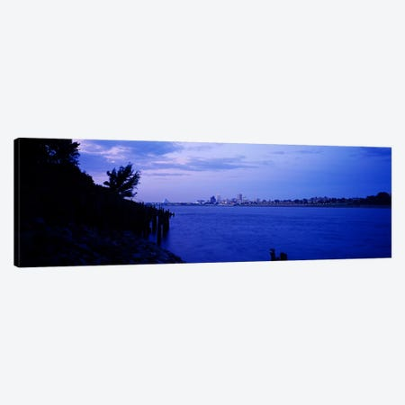 City at the waterfront, Mississippi River, Memphis, Shelby County, Tennessee, USA Canvas Print #PIM6276} by Panoramic Images Canvas Artwork