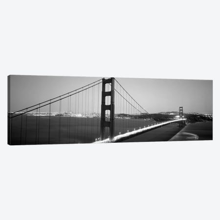 High angle view of a bridge lit up at night, Golden Gate Bridge, San Francisco, California, USA Canvas Print #PIM6278} by Panoramic Images Art Print