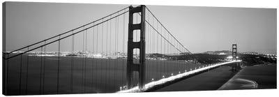 High angle view of a bridge lit up at night, Golden Gate Bridge, San Francisco, California, USA Canvas Art Print
