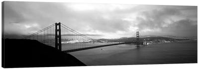 High angle view of a bridge across the sea, Golden Gate Bridge, San Francisco, California, USA Canvas Art Print