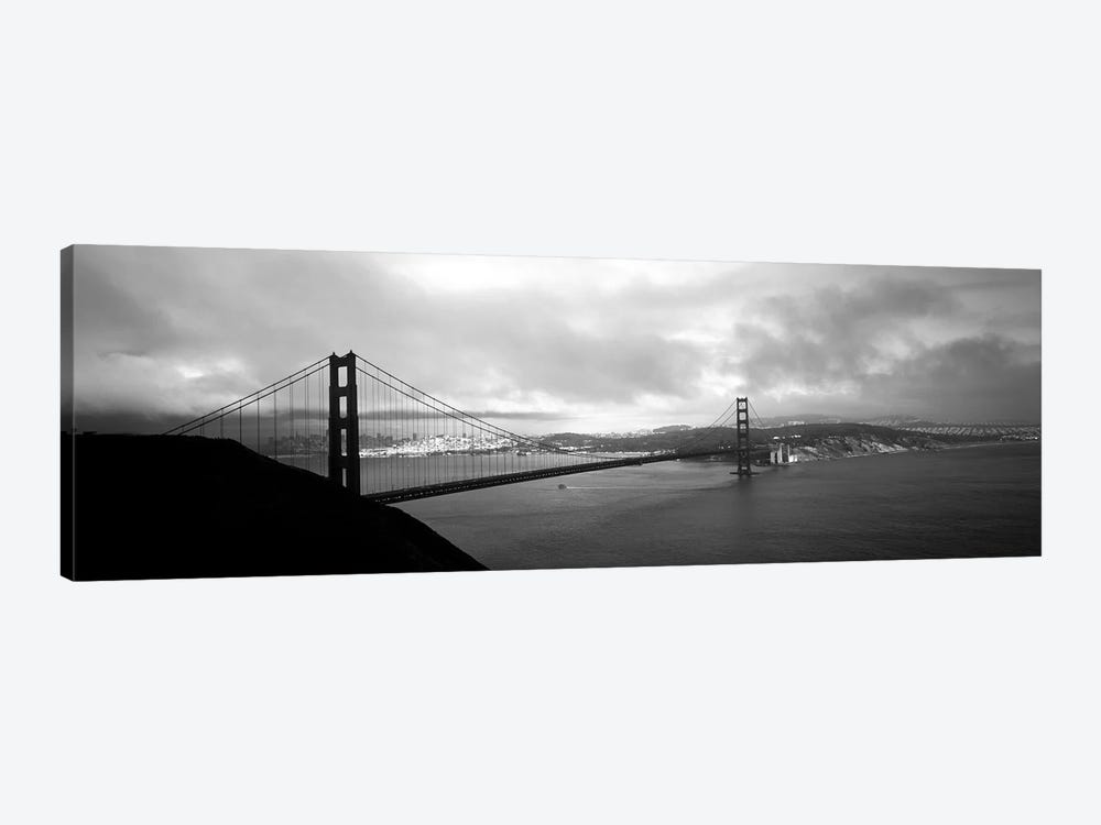 High angle view of a bridge across the sea, Golden Gate Bridge, San Francisco, California, USA by Panoramic Images 1-piece Canvas Art Print