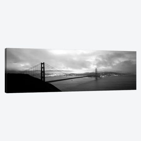 High angle view of a bridge across the sea, Golden Gate Bridge, San Francisco, California, USA Canvas Print #PIM6279} by Panoramic Images Canvas Art Print