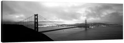 High angle view of a bridge across the sea, Golden Gate Bridge, San Francisco, California, USA Canvas Art Print