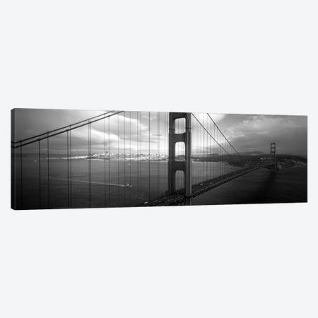 High angle view of a bridge across the seaGolden Gate Bridge, San Francisco, California, USA Canvas Print #PIM6280} by Panoramic Images Canvas Wall Art