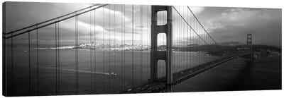 High angle view of a bridge across the seaGolden Gate Bridge, San Francisco, California, USA Canvas Art Print