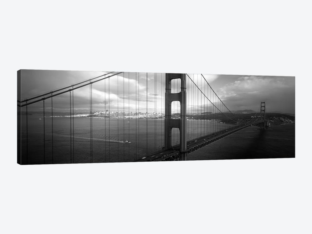 High angle view of a bridge across the seaGolden Gate Bridge, San Francisco, California, USA by Panoramic Images 1-piece Art Print