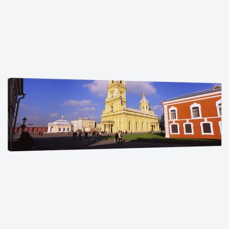 Low angle view of a cathedralPeter & Paul Cathedral, Peter & Paul Fortress, St. Petersburg, Russia Canvas Print #PIM6283} by Panoramic Images Canvas Wall Art