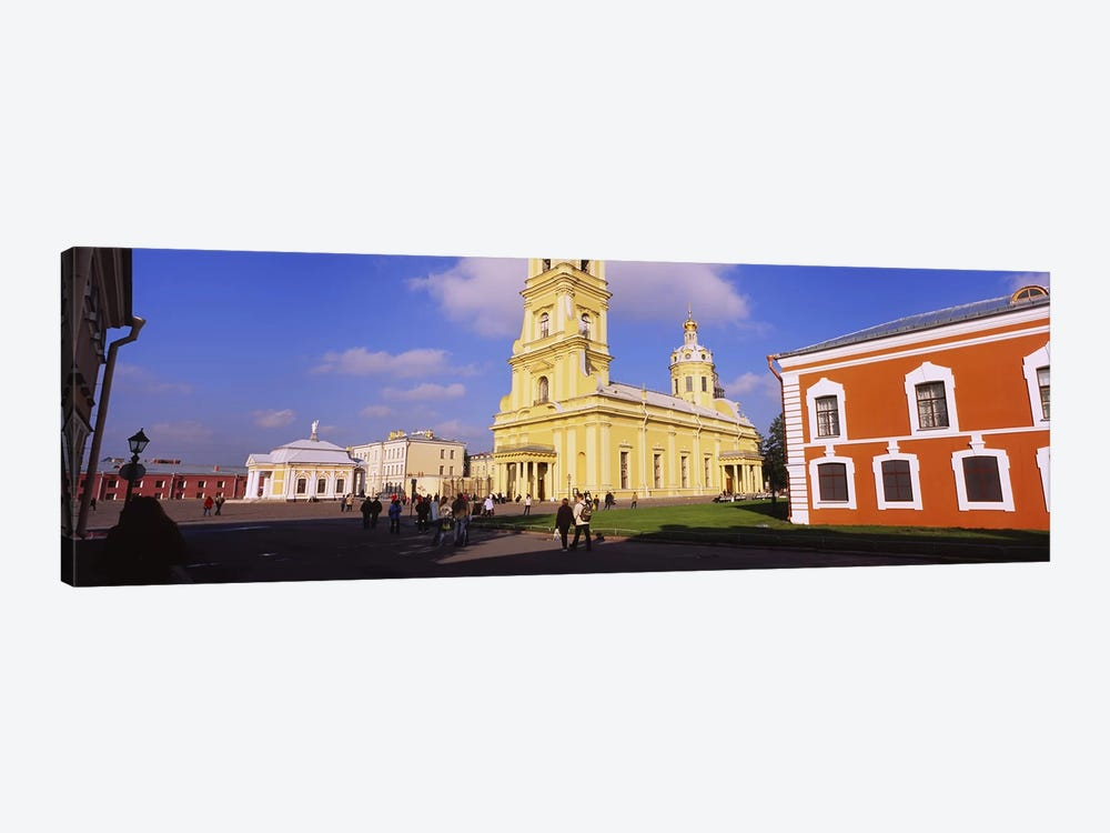 Low angle view of a cathedralPeter & Paul Cathedral, Peter & Paul Fortress, St. Petersburg, Russia by Panoramic Images 1-piece Canvas Wall Art