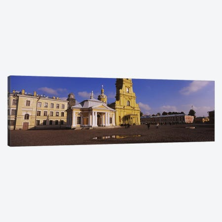 Facade of a cathedralPeter & Paul Cathedral, Peter & Paul Fortress, St. Petersburg, Russia Canvas Print #PIM6284} by Panoramic Images Canvas Art Print