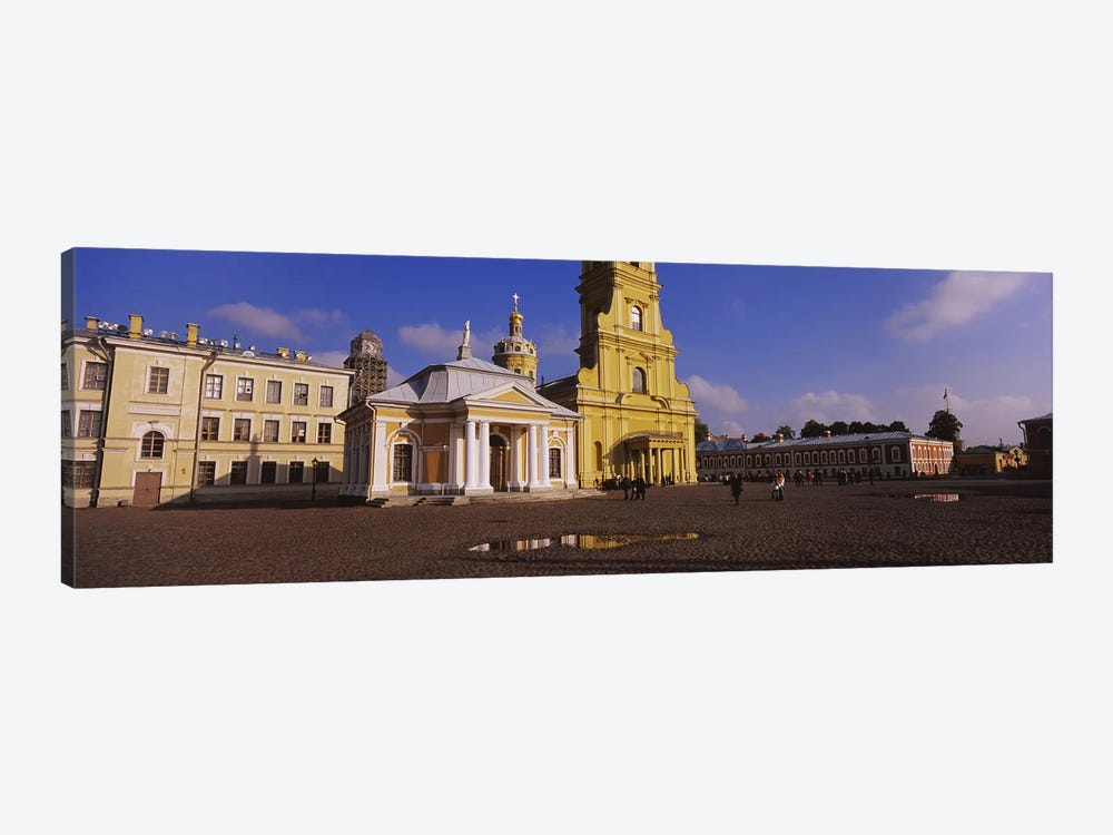 Facade of a cathedralPeter & Paul Cathedral, Peter & Paul Fortress, St. Petersburg, Russia by Panoramic Images 1-piece Canvas Art Print