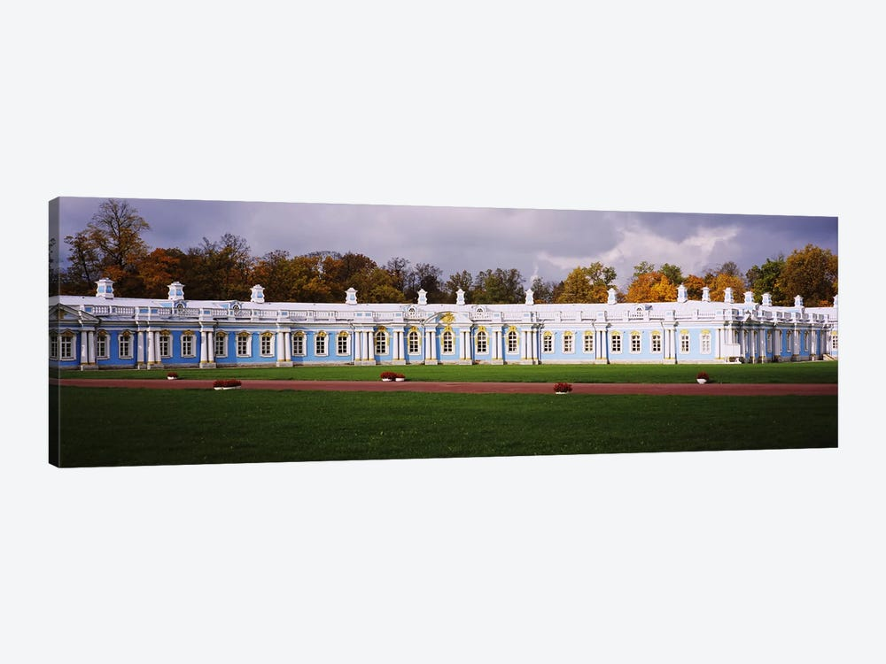Lawn in front of a palaceCatherine Palace, Pushkin, St. Petersburg, Russia by Panoramic Images 1-piece Canvas Print