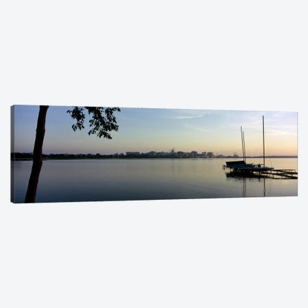 Buildings at the waterfront, Lake Monona, Madison, Dane County, Wisconsin, USA Canvas Print #PIM6296} by Panoramic Images Canvas Wall Art