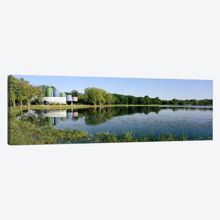 Reflection of trees in water, Warner Park, Madison, Dane County, Wisconsin, USA Canvas Print #PIM6297} by Panoramic Images Canvas Art