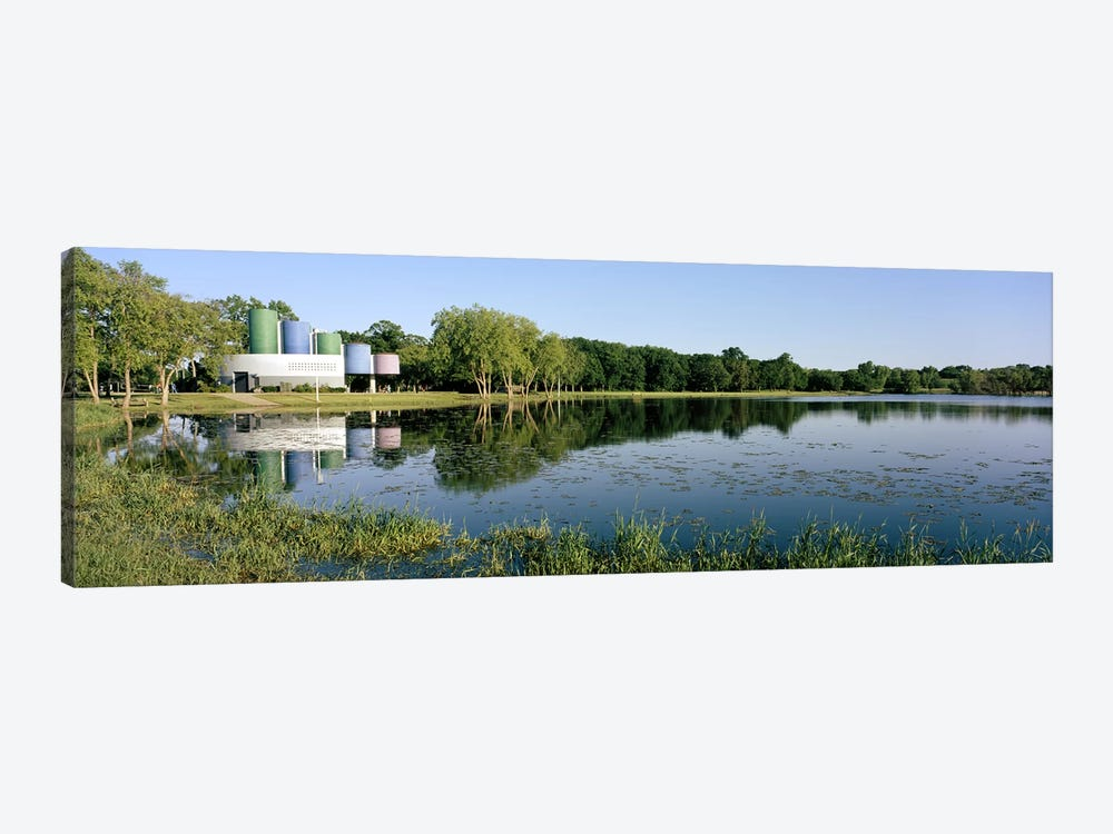 Reflection of trees in water, Warner Park, Madison, Dane County, Wisconsin, USA by Panoramic Images 1-piece Art Print