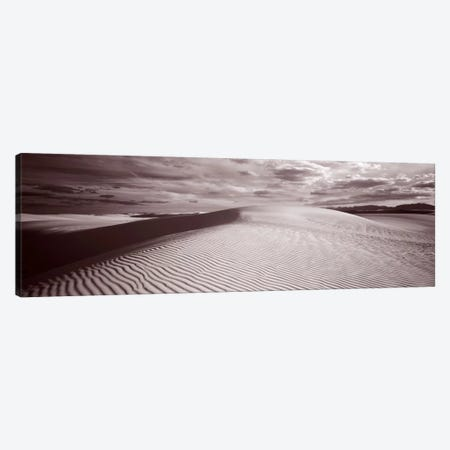 Cloudy Landscape In B&W, White Sands National Monument, Tularosa Basin, New Mexico Canvas Print #PIM629} by Panoramic Images Canvas Art