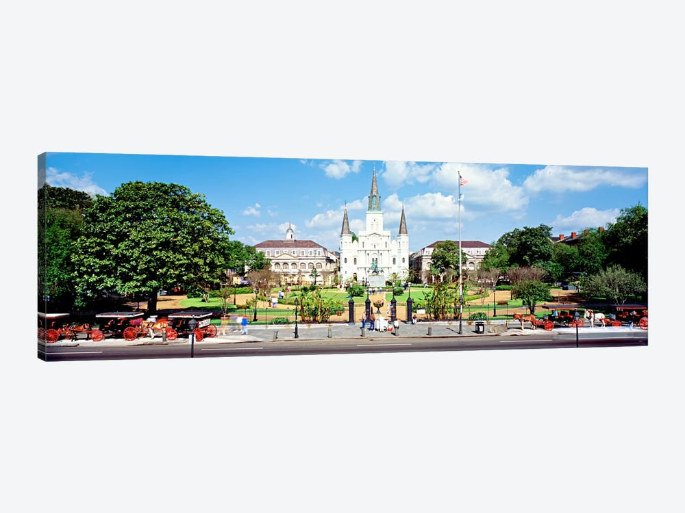 Jackson Square, New Orleans, Louisiana, USA by Panoramic Images 1-piece Canvas Wall Art