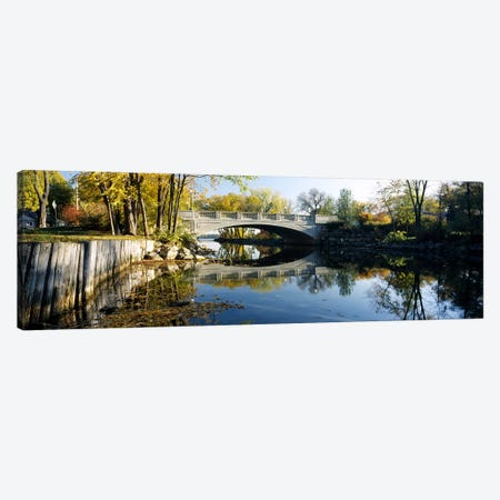 Bridge across a river, Yahara River, Madison, Dane County, Wisconsin, USA Canvas Print #PIM6300} by Panoramic Images Canvas Print