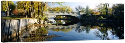 Bridge across a river, Yahara River, Madison, Dane County, Wisconsin, USA Canvas Art Print