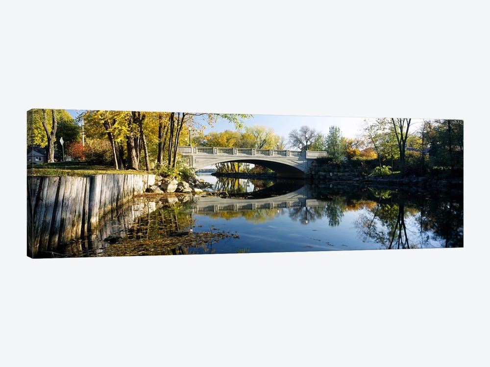 Bridge across a river, Yahara River, Madison, Dane County, Wisconsin, USA by Panoramic Images 1-piece Canvas Artwork