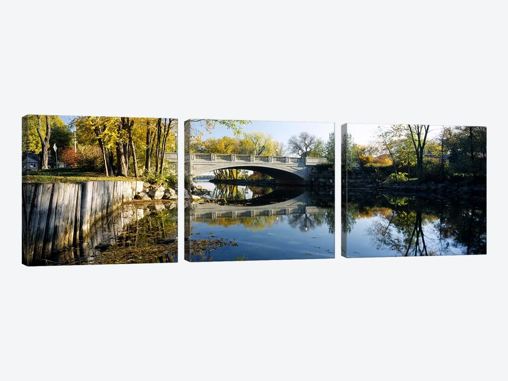 Bridge across a river, Yahara River, Madison, Dane County, Wisconsin, USA by Panoramic Images 3-piece Canvas Wall Art