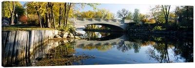 Bridge across a river, Yahara River, Madison, Dane County, Wisconsin, USA Canvas Art Print