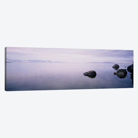 Rising Mist, Great Salt Lake, Utah, USA Canvas Print #PIM6301} by Panoramic Images Canvas Print