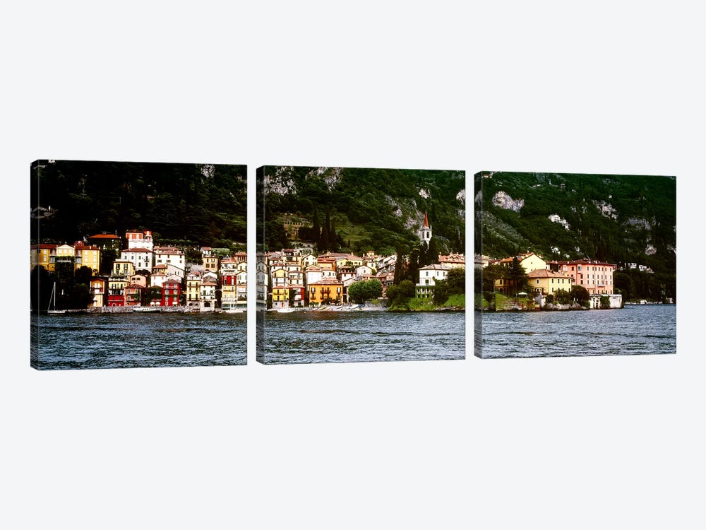 Lakeside Commune, Varenna, Lecco Province, Lombardy, Italy by Panoramic Images 3-piece Canvas Artwork