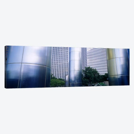 Columns of a building, Downtown District, Houston, Texas, USA Canvas Print #PIM6305} by Panoramic Images Canvas Art