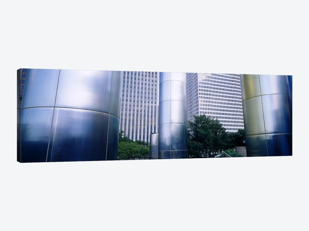 Columns of a building, Downtown District, Houston, Texas, USA by Panoramic Images 1-piece Canvas Art Print