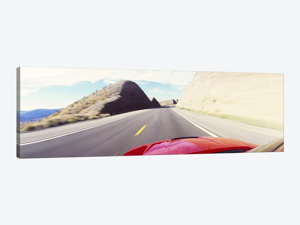 Car on a road, outside Las Vegas, Nevada, USA by Panoramic Images 1-piece Canvas Art Print