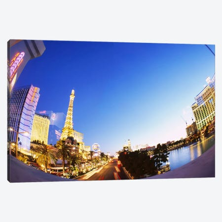 Buildings lit up at dusk, Las Vegas, Nevada, USA #3 Canvas Print #PIM6308} by Panoramic Images Art Print