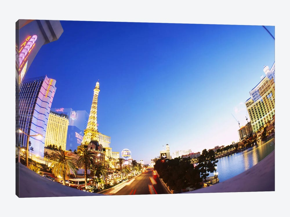 Buildings lit up at dusk, Las Vegas, Nevada, USA #3 by Panoramic Images 1-piece Canvas Wall Art