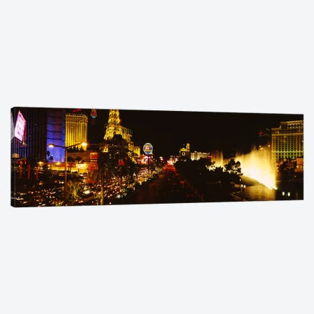 Buildings lit up at night, Las Vegas, Nevada, USA #4 Canvas Print #PIM6309} by Panoramic Images Canvas Art Print