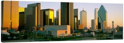 Skyscrapers in a city, Dallas, Texas, USA #3 Canvas Art Print