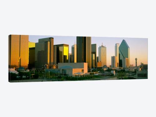 Skyscrapers In A City Dallas Texas Usa 3 Canvas Wall Art Icanvas