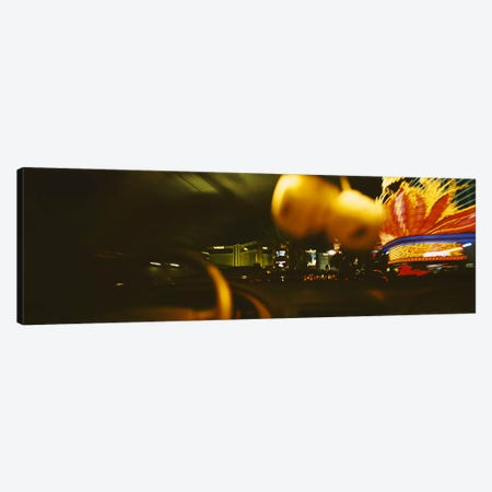 Buildings lit up at night viewed through a car, Las Vegas, Nevada, USA Canvas Print #PIM6310} by Panoramic Images Canvas Wall Art