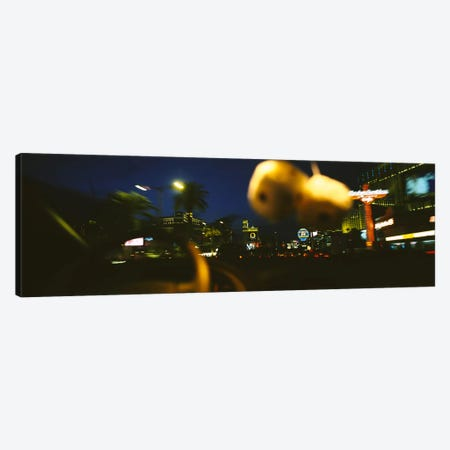 Buildings lit up at night viewed through a car, Las Vegas, Nevada, USA #2 Canvas Print #PIM6311} by Panoramic Images Canvas Wall Art