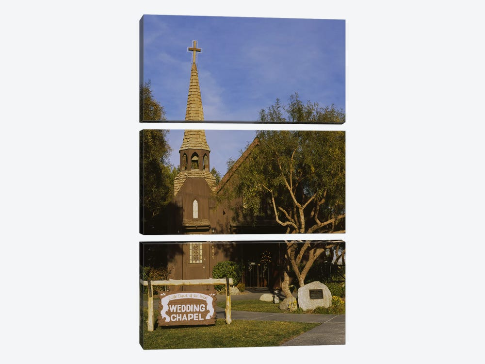 Low angle view of a church, The Little Church of the West, Las Vegas, Nevada, USA by Panoramic Images 3-piece Canvas Art