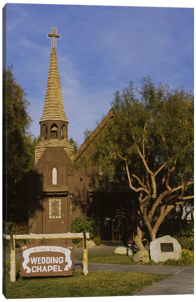 Low angle view of a church, The Little Church of the West, Las Vegas, Nevada, USA Canvas Art Print