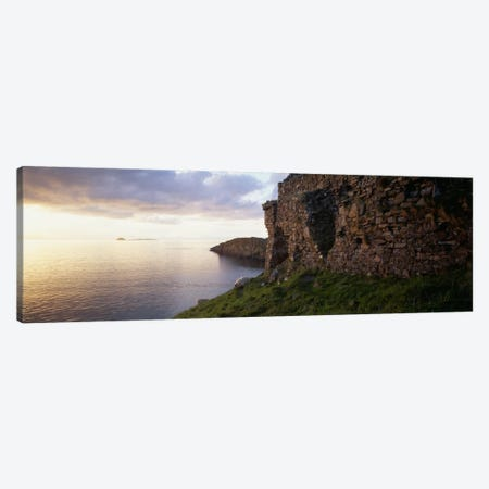 Duntulm Castle Ruins & Tulm Island, Trotternish, Isle Of Skye, Scotland Canvas Print #PIM631} by Panoramic Images Canvas Print