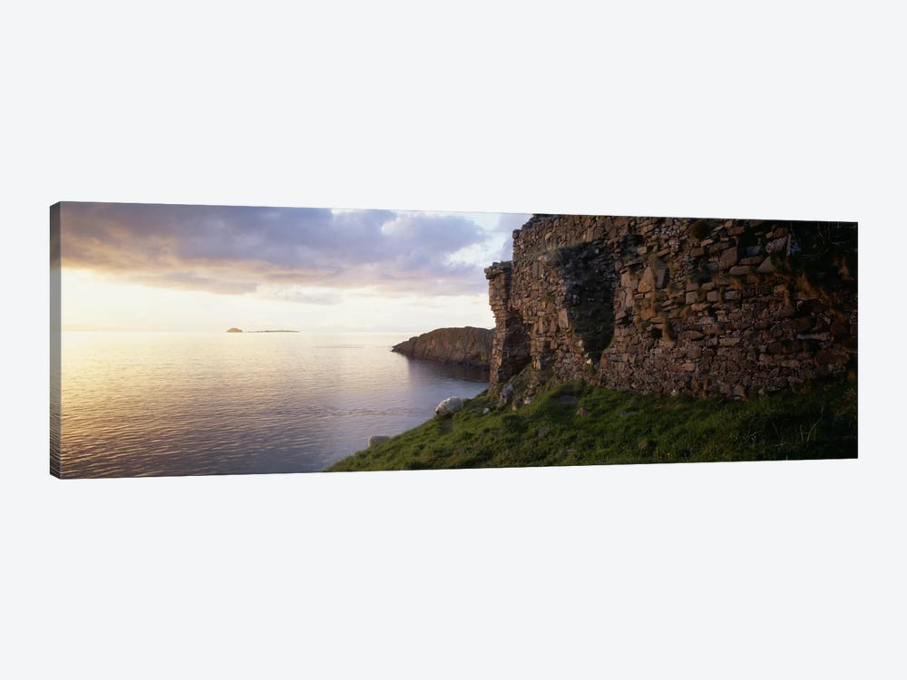 Duntulm Castle Ruins & Tulm Island, Trotternish, Isle Of Skye, Scotland by Panoramic Images 1-piece Canvas Wall Art