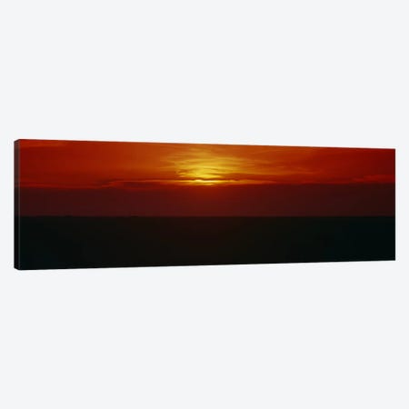 Magnificent Red Sunset, Carson County, Texas, USA 3-Piece Canvas #PIM6322} by Panoramic Images Art Print