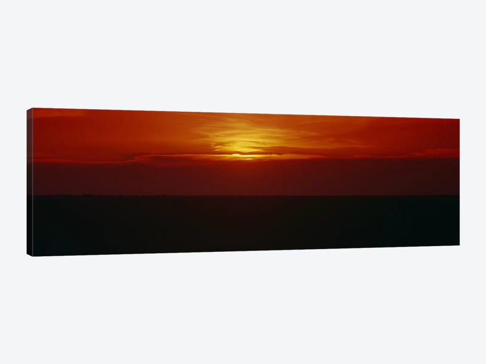 Magnificent Red Sunset, Carson County, Texas, USA by Panoramic Images 1-piece Canvas Art