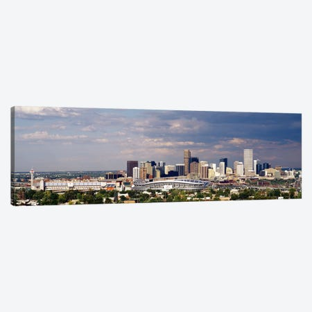 Skyline with Invesco Stadium, Denver, Colorado, USA Canvas Print #PIM6325} by Panoramic Images Canvas Artwork