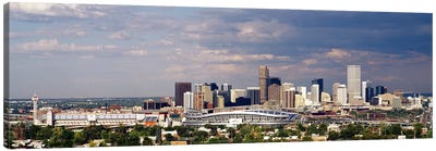Skyline with Invesco Stadium, Denver, Colorado, USA Canvas Art Print